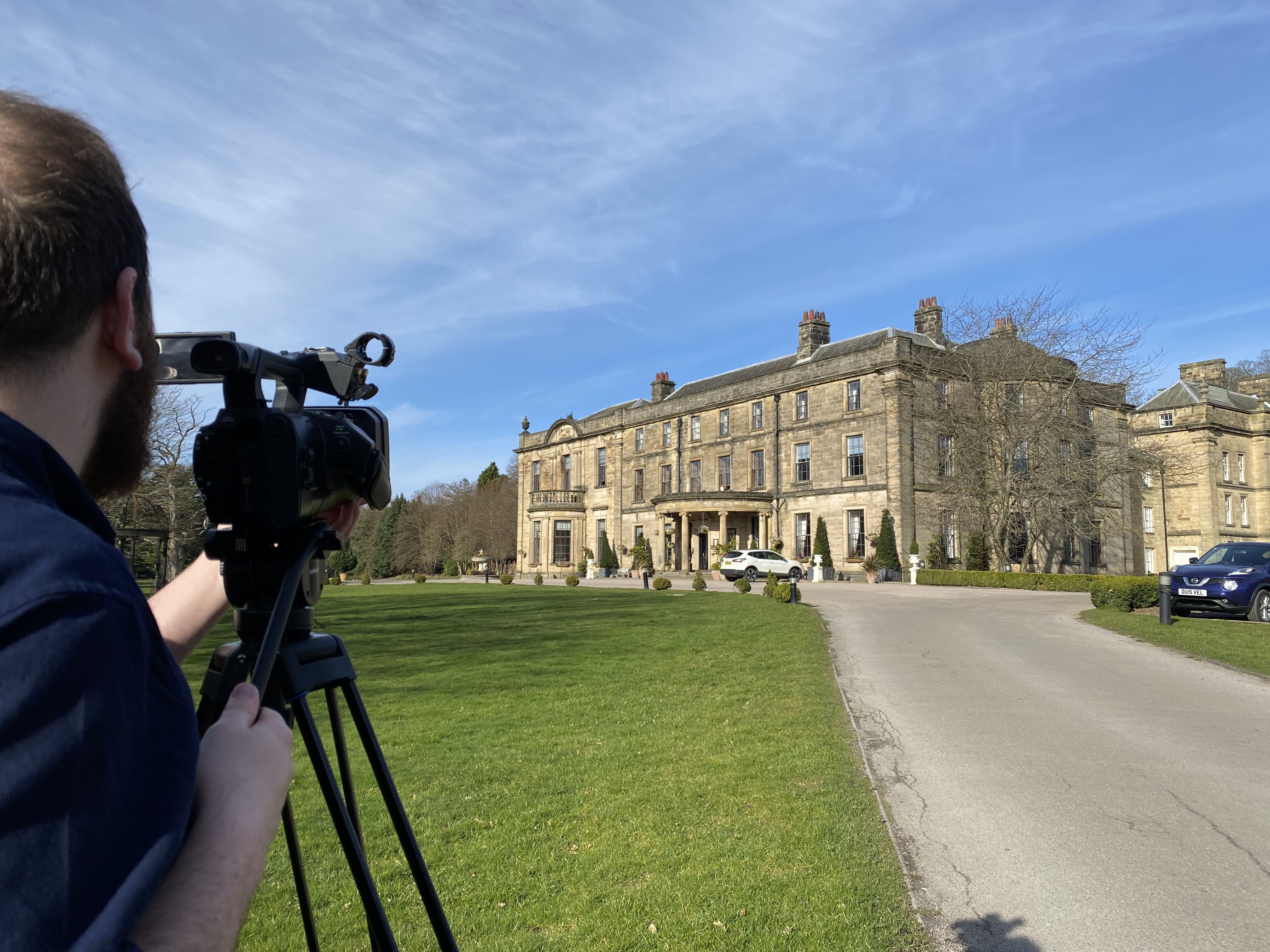 Beamish Hall wedding - the exterior of Beamish Hall